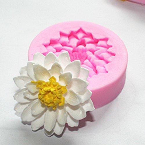 Allforhome Silikon-Form zum Backen und Basteln, Mini-Blume, für Zuckerguss- / Kuchen-Deko, Gießharz, Blütenpaste, Fondant, 5cm