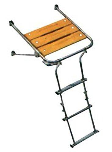 Plancetta di Poppa 40cm plancia con scaletta 3 gradini Acciaio Legno Barca