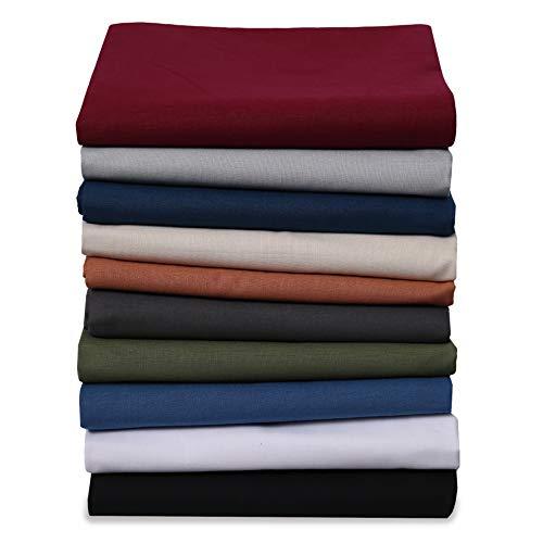 EllaTex Renforce Bettlaken Haustuch aus 100prozent Baumwolle ohne Gummizug, Farbe: Anthrazit-Grau, Größe: 140 x 200 cm
