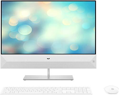 "HP 24-xa0034ns - All in One - Ordenador de sobremesa 24"" FullHD (Intel Core i7-9700T, 16GB RAM, 512GB SSD + 1TB HDD, Intel Graphics, Windows 10 Home), color blanco - teclado QWERTY Español y ratón"