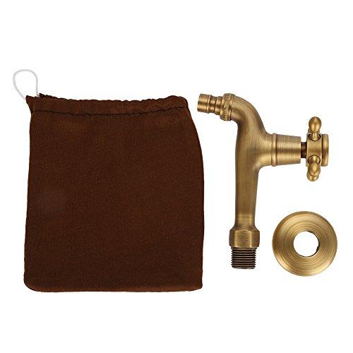 Grifo de BañO Vintage, Grifo para Lavadora de Una Sola Manija de LatóN Macizo, Grifo de Agua Montado en la Pared para la Cocina del Lavabo de la BañEra(Largo)