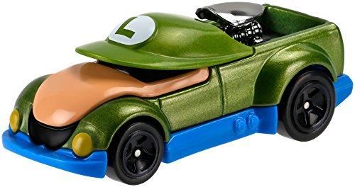 Voiture Hot Wheels Super Mario - Luigi - Mattel