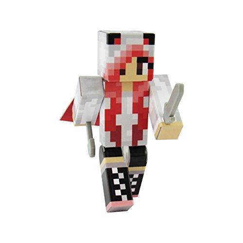 EnderToys Panda Girl Red Action Figure Toy, 4 Inch Custom Series Figurines