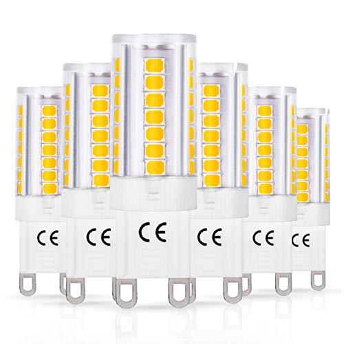 LOHAS G9 LED Lampe, 5W, Ersetzt 40W, G9Halogen, 3000K Warmweiß, 450LM, Leuchtmittel, Nicht Dimmbar, 360 Grad Abstrahlwinkel, 230V, 6er Pack