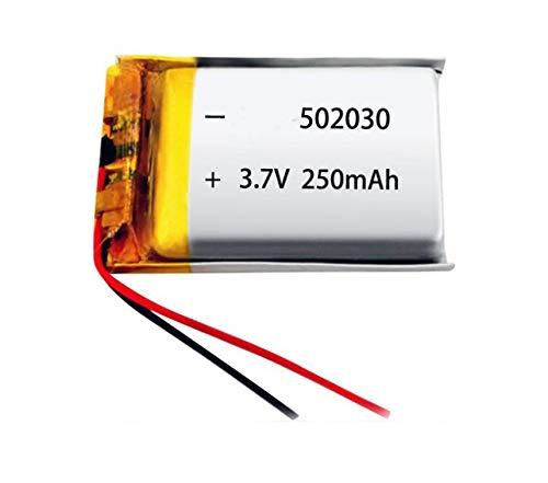 NO LOGO HWW-DIANCHI, 1pc 3.7V 250mAh Lipo 502030 052030 polímero de Litio Recargable de Ion de Litio células for MP3 MP4 Juguetes GPS Bluetooth Headset