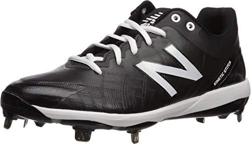 New Balance Men's 4040 V5 Metal Baseball Shoe, Black/White, 11 M US