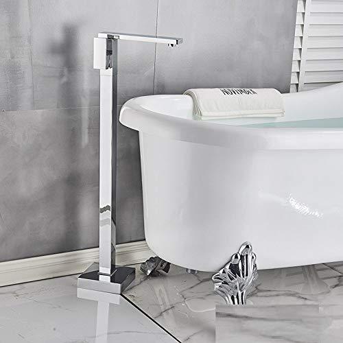 PLUIEX Grifo de bañera Baño Grifo para bañera Pisos de pie Cromado Monomando Grifos mezcladores en frío y en Caliente, Tipo C