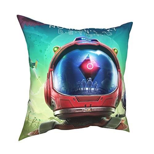 Juego de fundas de almohada para juegos de aventura de PlayStation, con diseño de compañeros de Sk-y Open World, para juegos de aventura, para niños, con sofá a prueba de polvo, 12 x 12 pulgadas