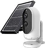 Kettles Cámara Solar de Seguridad al Aire Libre Cámara Solar Recargable Cámara de vigilancia 1080P HD WiFi Cámara IP inalámbrica al Aire Libre Cámara Impermeable para Uso Exterior