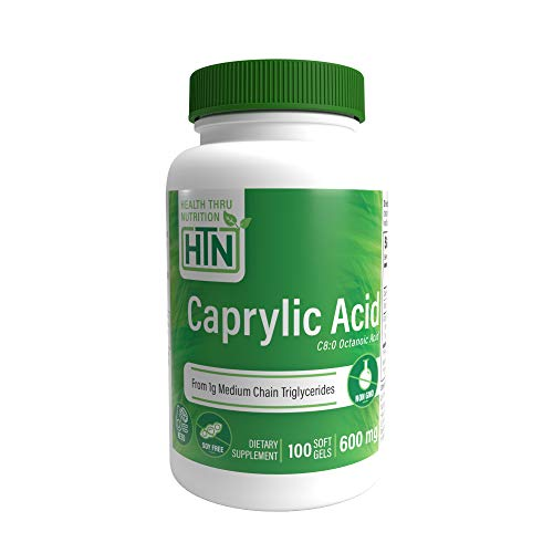 Caprylic Acid 600mg 100 softgels Non-GMO (100)