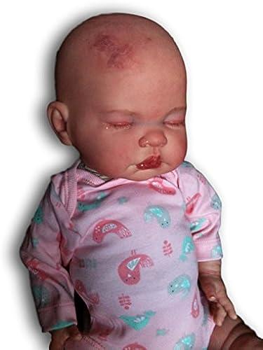 Kinder Reborn Baby mädchen Puppe, 48,3  lang, Neugeborene,, real, eingeschlafen, Geburt Mark, schwere, UK Verk er
