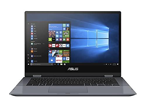 ASUS VivoBook Flip TP412FA-EC707T - Portátil 14' Full HD (Core i5-10210U, 8GB RAM, 512GB SSD, UHD Graphics, Windows 10 Home) Gris Estrella - Teclado QWERTY español