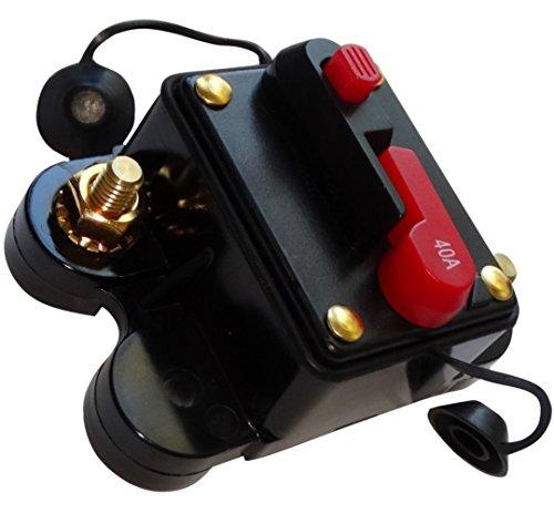AERZETIX - C14611-40A 12V 24V 32V 48V - Automatische Sicherung - automatik schalter - 78x52x37mm - IP67 amp auto - autoverstärker