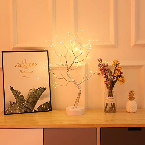 Tree Lights/Bonsai Tree Lights, LED Decorative Lights, Touch switches, Room Decorations and Gifts, Warm White Glow.(108led)