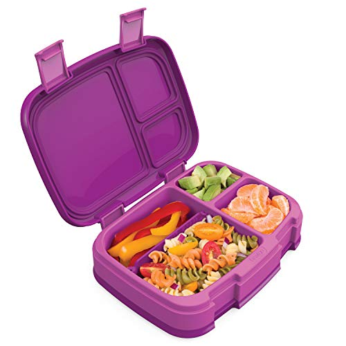 Bentgo Fresh Purple – New Improved Leak-Proof Versatile 4-Compartment Bento-Style Lunch Box – Ideal for Portion-Control and Balanced Eating On-The-Go – BPA-Free and Food-Safe Materials