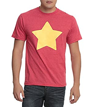 STEVEN UNIVERSE Star T-Shirt-Large Red Heather
