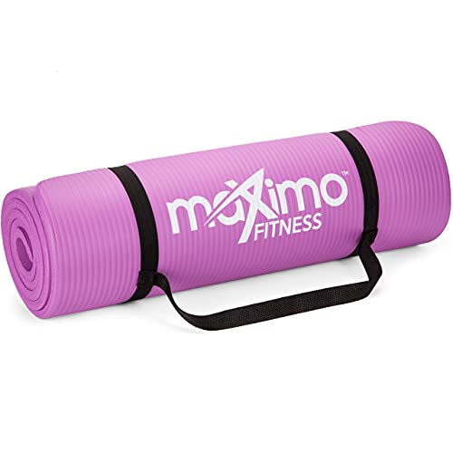 Maximo Exercise Mat NBR Fitness Mat - Multi Purpose - 183 x 60 x 1.2 centimetres - Yoga, Pilates, Sit-ups, Stretching, Home, Gym Men And Women.