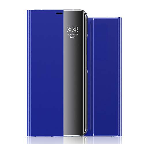 wonfurd Samsung Galaxy Note 8 Hülle Kristallklarer - 360 Grad Clear View Flip Cover Kameraschutz Handyhüllen Leder Flip Hülle mit Standfunktion Schutzhülle Zubehör für Samsung Galaxy Note 8-Blau