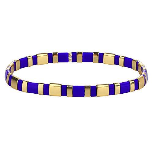 KANYEE Bracelets élastique pour Femme Bracelets D'amitié Bracelets Perlés Tila Bracelets Breloques Mode De Manchette pour Cadeaux d'anniversaire – 8G
