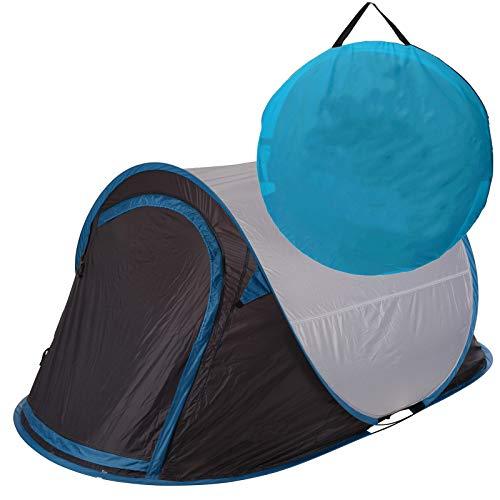 Zelt Pop Up Wurfzelt 2 Personen von JEMIDI Festival Zelte Trekkingzelt Campingzelt Automatik Sekundenzelt Strand Strandzelt 220cm x 120cm x 95cm 2 Mann Popup Wurfzelte Grau/Blau
