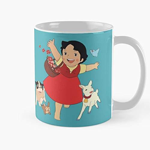 Switzerland Alps Comic Tv Heidi Show Anime Series Cartoon Best 11 oz Kaffeebecher - Nespresso Tassen Kaffee Motive