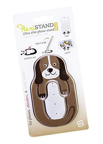 Flexistand Animal Hund - superflacher Aufsteller für Smartphones und Mini-Tablets, Handyhalter: Ideal zum Filme schauen und lesen - für zuhause und unterwegs