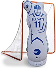 Elevate Inflatable Lacrosse Goalie Shot Blocker and Dodging Dummy - Dodge and Shoot with This New Lacrosse Goal Target Training Aid w/Pump for Boys and Girls Lax Training Equipment