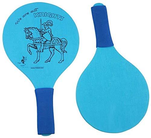 RENFEIYUAN Strand Paddel Ball Spiel Badminton Strand Cricket Holzschläger Paddel Outdoor-Schläger Spiel ohne Ball für Kinder (blau) Badminton Sets