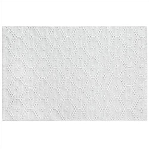 Nordic suave blanco onda simple onda Alfombras de algodón para sala de estar Dormitorio Decoración Área Alfombras Inicio Delicate Soft Floot Mats Dormitorio Alfombra Mullido Área Alfombra Alfombra