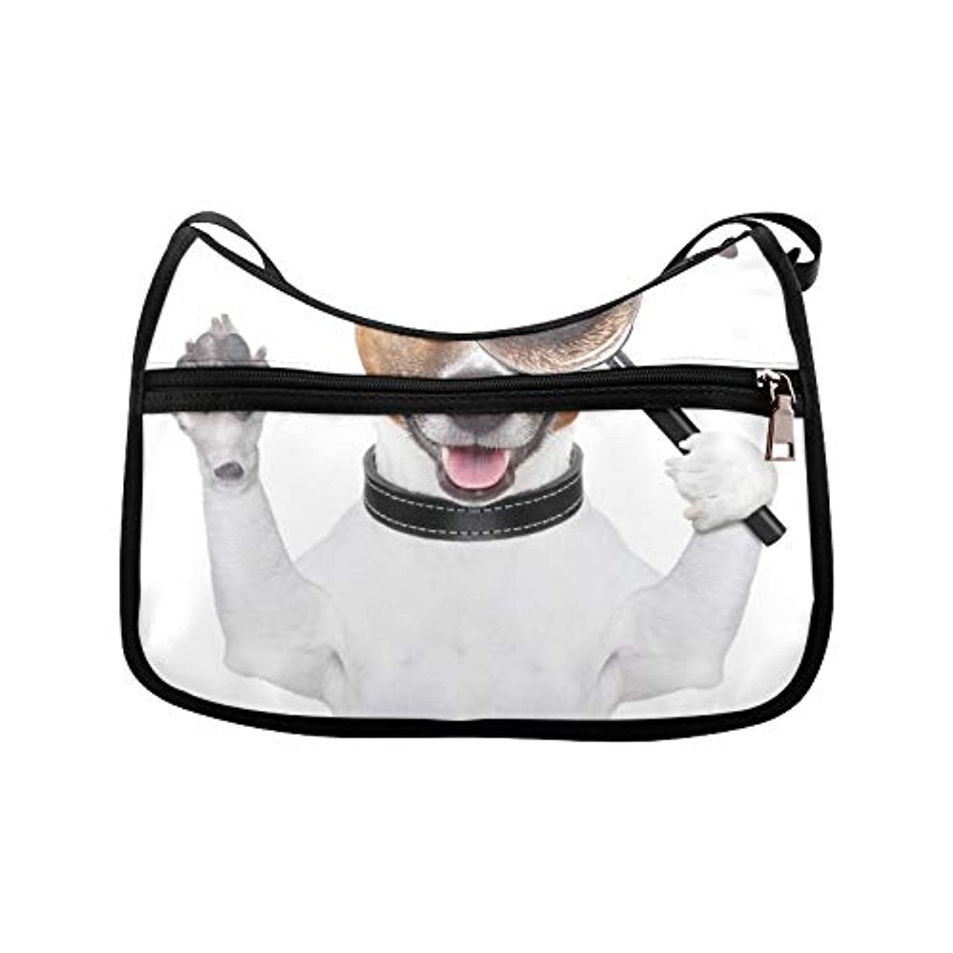Dog With Magnifying Glass Messenger Bag Crossbody Bag Large Durable Shoulder School Or Business Bag Oxford Fabric For Mens Womens