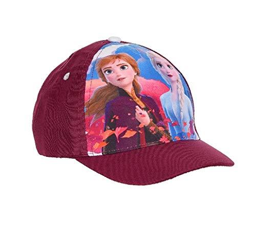 Disney Offizielle Frozen ELSA Anna Kinder Mädchen Baseball Mütze 2 bis 8 Jahre (Alter 4/8, Violett)