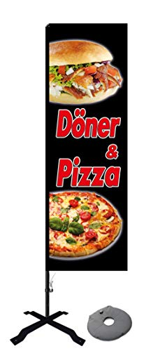 Beachflag Döner und Pizza -ca. 275 cm hoch- SEF577-K