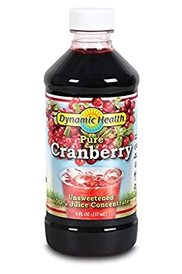 Dynamic Health 237ml 100 Percent Pure Cranberry Juice Concentrate by Dynamic Health Laboratories Inc