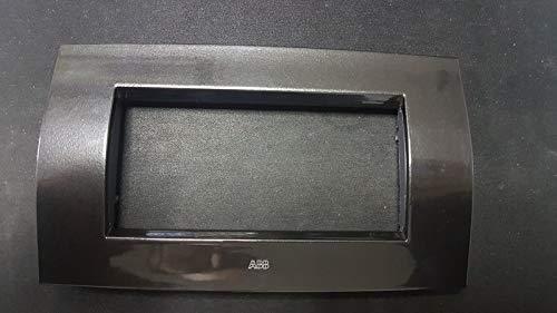 ABB PLACCA SOFT IN METALLO 4 MODULI GRIGIO ARDESIA 2CSE0405SFZ ELOS