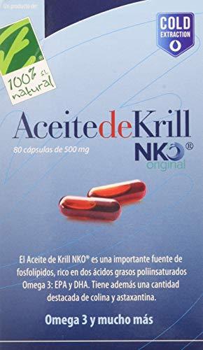 100% Natural Aceite Krill Nko Omega 3-80 Cápsulas en Blister