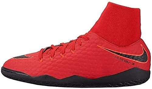 Nike Hypervenomx Phelon 3 DF IC, Botas de fútbol Hombre, Rojo (Rojo Universitario/Carmesí Brillante/Negro 616), 46 EU