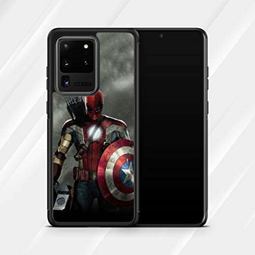 Inspired by Avengers Endgame Samsung Galaxy S21 Ultra S21+ S20 Plus 5G S20 FE S8 S9 Plus S10 S10e S10 Plus Case Superhero Captain America Spider-man Comics Logo M257