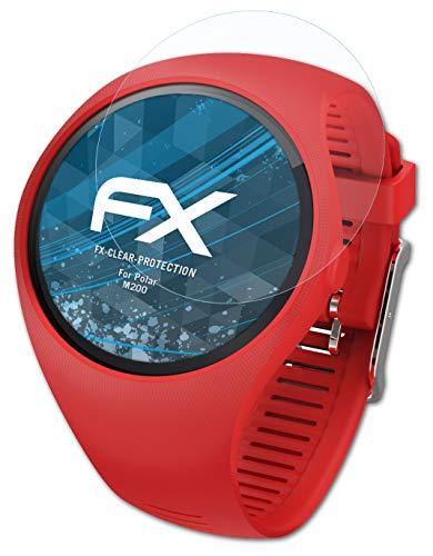 atFoliX Schutzfolie kompatibel mit Polar M200 Folie, ultraklare FX Bildschirmschutzfolie (3X)