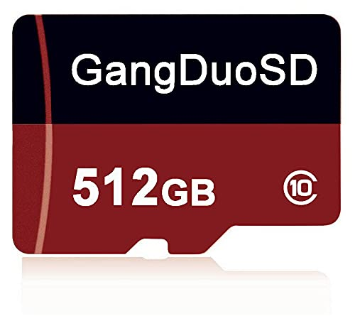 Tarjeta de memoria Micro SD de 512 GB, clase 10, tarjeta Micro TF C10, con adaptador SD gratuito para smartphones, altavoces, tabletas, drones, etc. (512 GB)