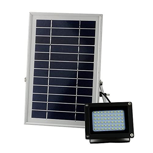 XHBH Luces de Pared al Aire Libre solares Reutilizables Lámpara de Seguridad al Aire Libre de la luz de inundación Impermeable para el jardín 4.24 (Emitting Color : White)