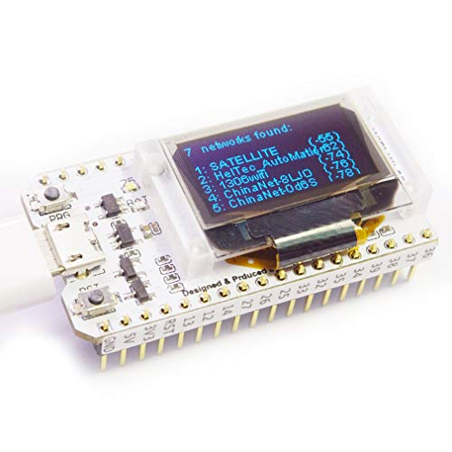 HiLetgo ESP32 OLED WiFi Kit ESP-32 0.96 Inch Blue OLED Display WiFi+Bluetooth CP2012 Internet Development Board for Arduino ESP8266 NodeMCU