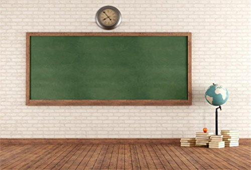 AOFOTO 5x3ft Classroom Backdrop Blackboard Photography Background Education School Chalkboard Books Photo Shoot Studio Props Class Study Student Teacher Boy Girl Kid Artistic Portrait Vinyl Wallpaper