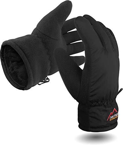 Damen Winter Handschuhe Extrem Warm und Flauschig TOG-9.8 bis -10°C Farbe Black Größe XS/S