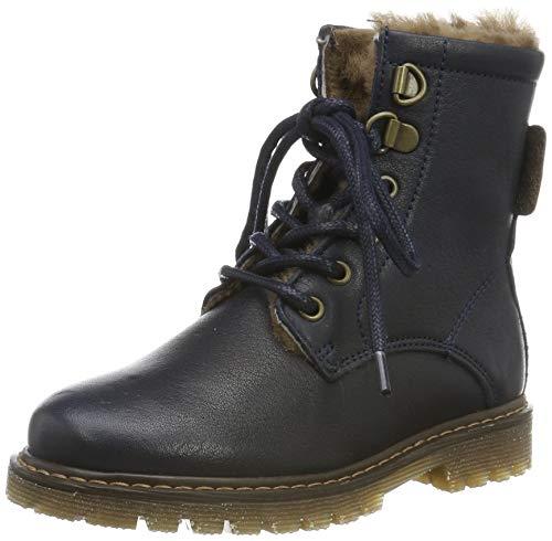 Bisgaard Mädchen Maia Combat Boots, Blau (Navy 600), 32 EU