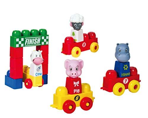 Tutor Blocks Meine ersten Magnetbausteine Serie 303 Tierrennen Kleinkind Lernbausteine Babyspielzeug Sensorikspielzeug ab +6 Monate