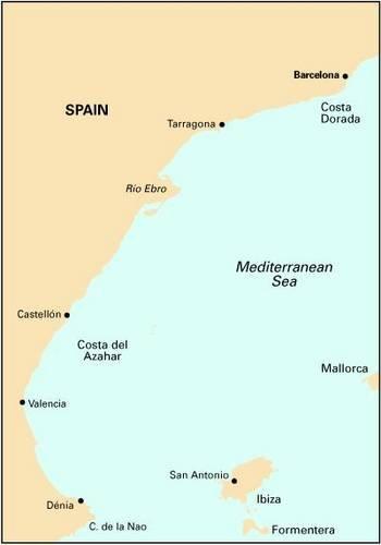 Imray Chart M13: Mediterranean Spain - Denia to Barcelona & Ibiza