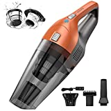Holife HLHM218BEUS HLHM218BWUS, Hand Cyclonic Suction, Handheld Vacuum Cordless Powered with Rechargeable Quick Charge Tech, Lightweight Dry Vac for Home and Car Cleaning (White), Orange