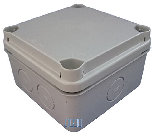 Kunststoff Klemmenkasten EX111 (108 x 108 x 64 mm, Deckel grau, UT vorgeprägt) mit Hutschiene