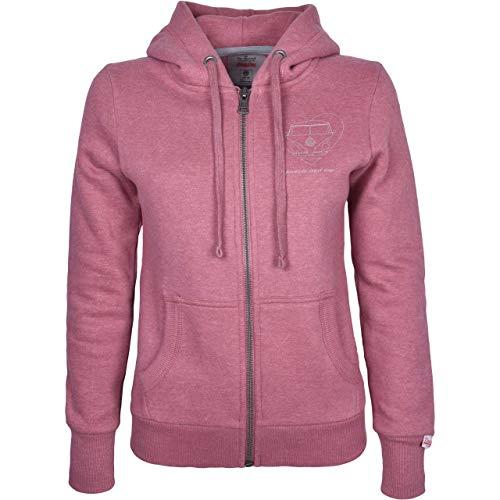 Van One Damen Zip Hoodie Bulli Forever Berry Melange Sand pink/beige - M