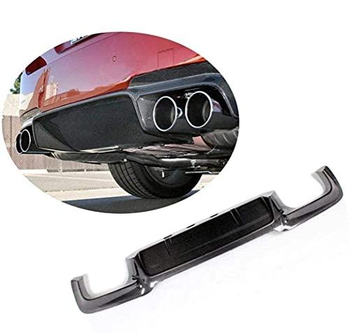 QINDE Adecuado para BMW 5 Series F10 M5 Sedan 2012-2017 De Fibra De Carbono Parachoques Trasero Labio CF Difusor Quad Silenciador Doble Salida